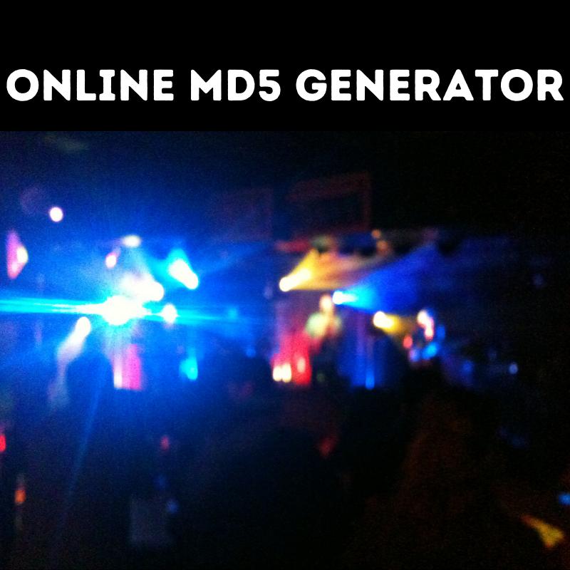 Online Md5 Generator