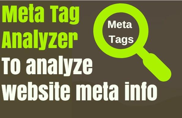 Free Meta tags analyzer